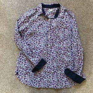 J.Crew Floral Button Pullover Size Medium